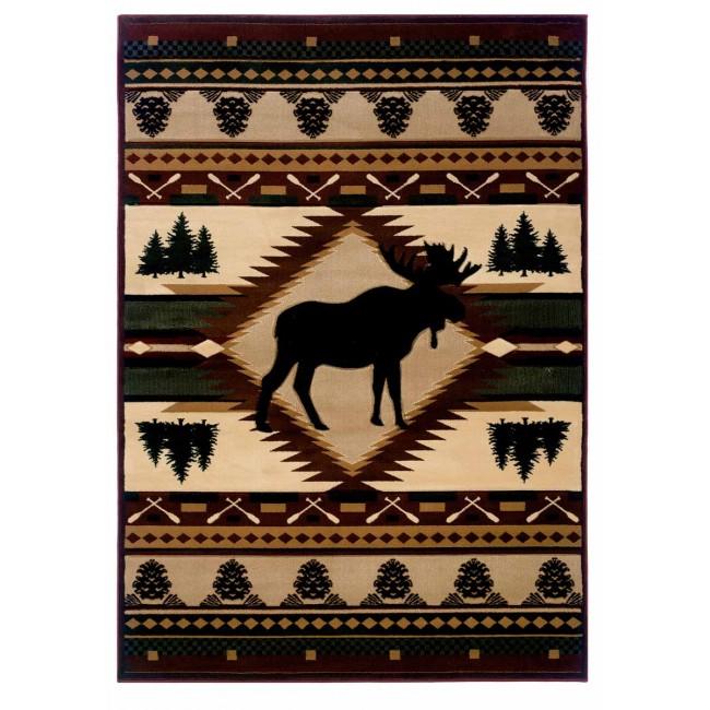 Moose Wilderness Cabin Rug