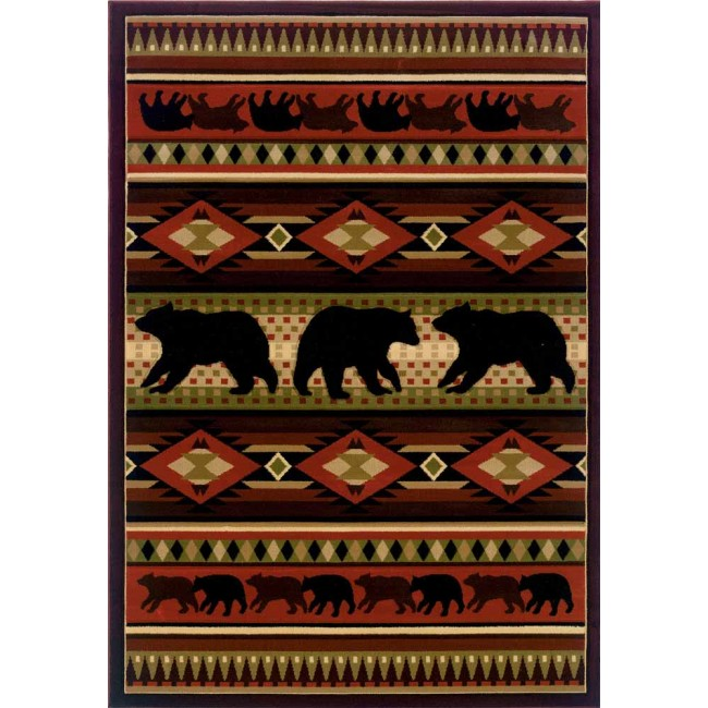 Native Bear Cabin Rug
