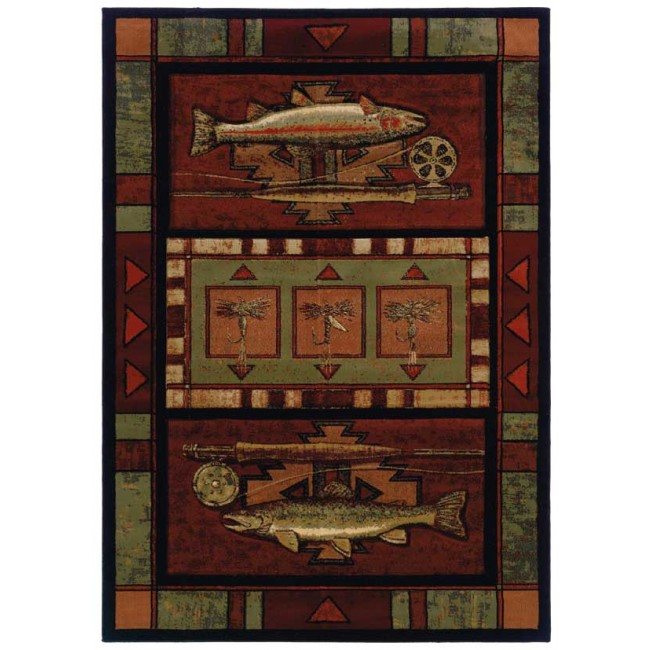 Rainbow Trout Cabin Rug