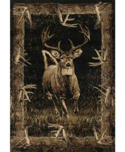 Running Deer Cabin Rug