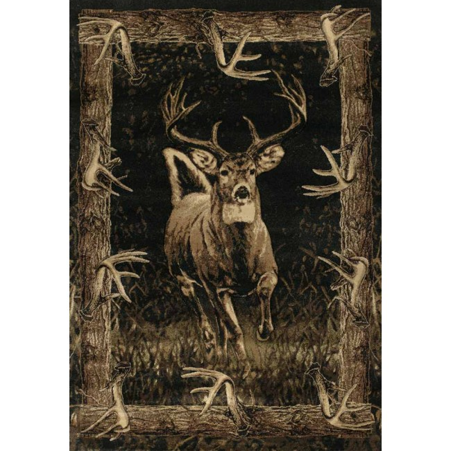 Running Deer Cabin Rug Wildlife Cabin Rugs