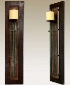 Rustic Tequila Stave Candle Holder