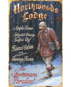 Custom Hunting Lodge Vintage Sign