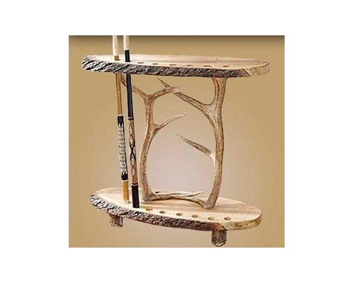Antler Log Cue Stick Holder