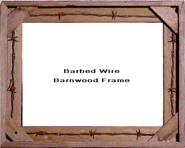 Barbed Wire Barnwood Frame