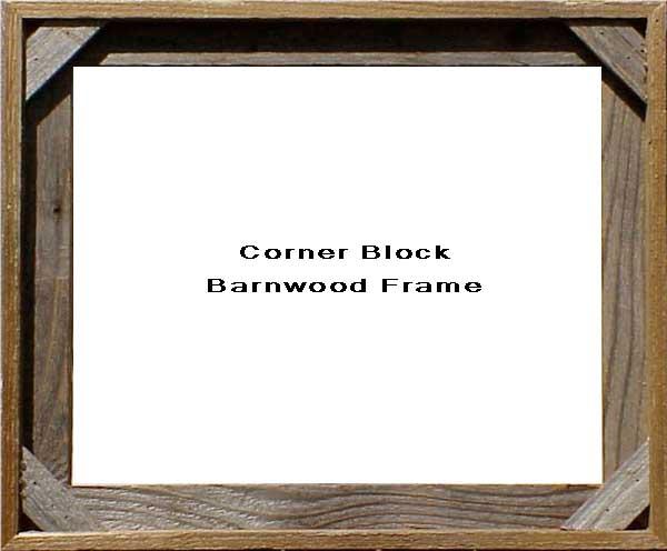 Corner Block Barnwood Frame