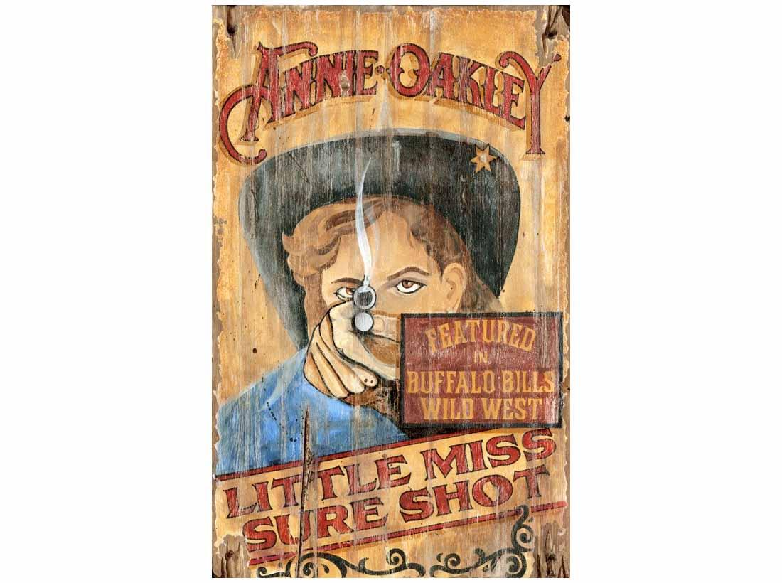 Annie Oakley Vintage Sign