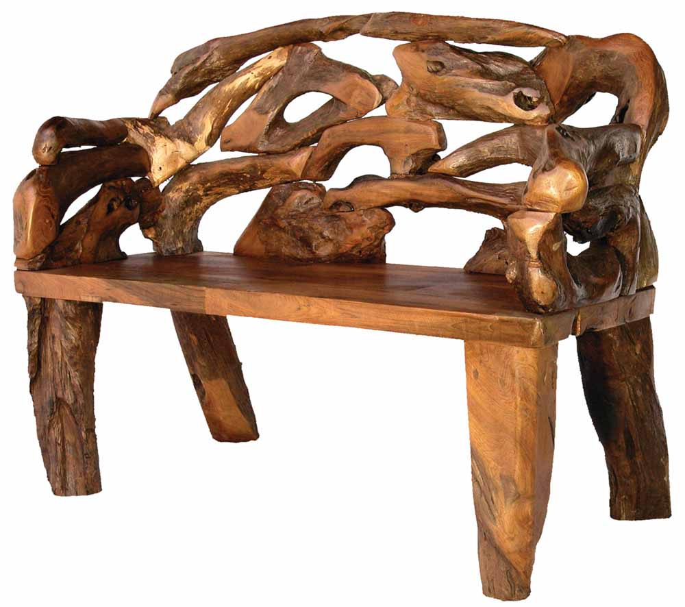 Badland Root Bench | Rustic Cabin Benches