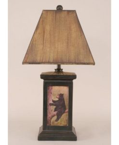 Bead Board Pot w/Bear Scene Lamp
