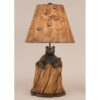 Bear in Stump Lamp