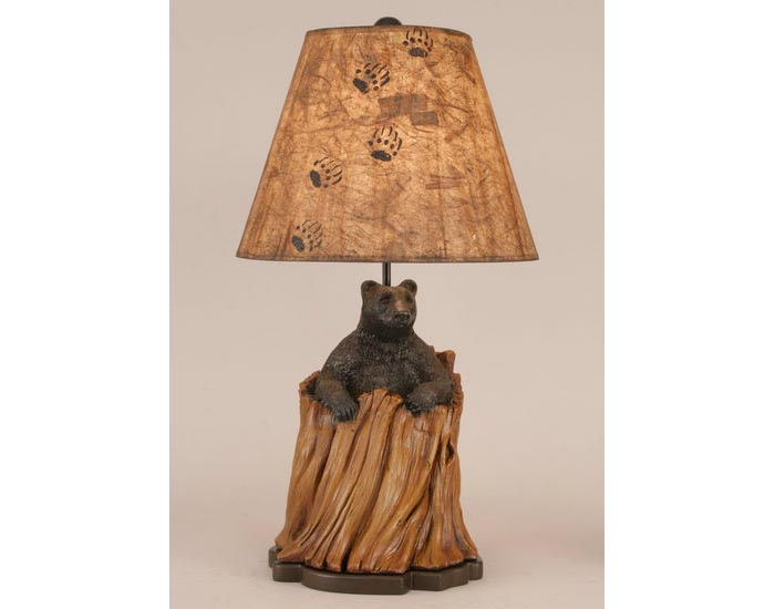 Bear in Stump Lamp