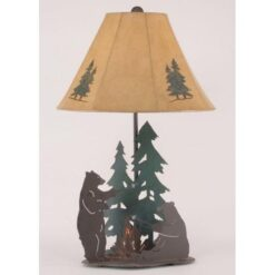 Bears Roasting Marshmallows Lamp