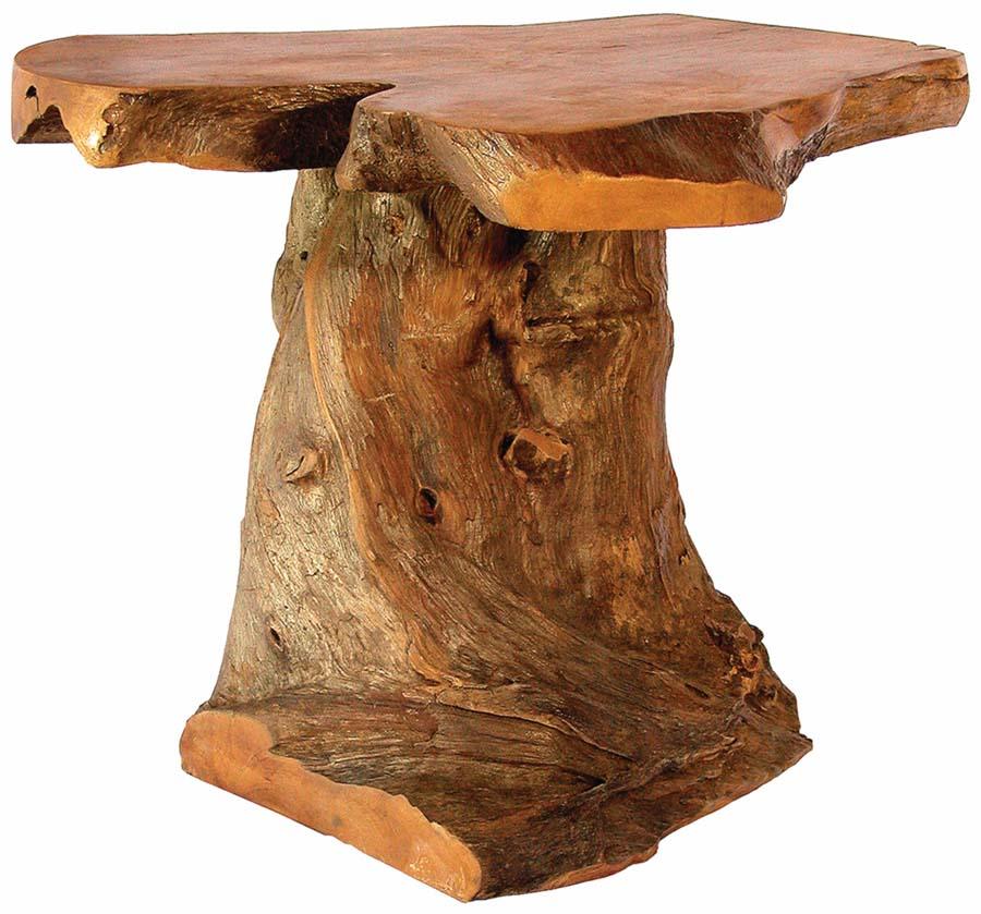 Cone Kodiak Side Table Rustic Side Tables