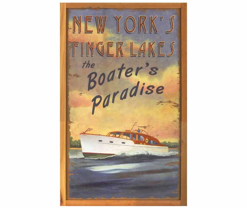 Boater's Paradise Vintage Sign