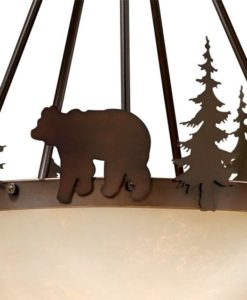"Bozeman 24"" Pendant Burnished Bronze - Bear"