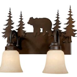 Vanity Burnished Bronze - Two Light / Bear Accent