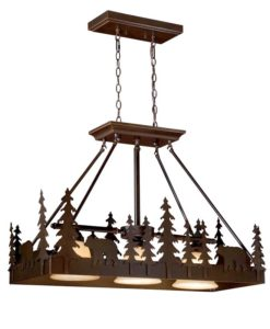 "Bozeman 36"" Kitchen Island Pendant Burnished Bronze - Bear"