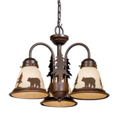 Bozeman 3L Light Kit Burnished Bronze - Bear