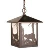 "Bozeman 8"" Outdoor Pendant Burnished Bronze - Bear"