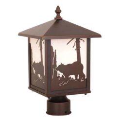 Bozeman 8 Outdoor Post Light Burnished Bronze Bear
