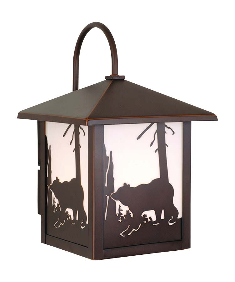Bozeman 8 Outdoor Wall Light Burnished Bronze Bear