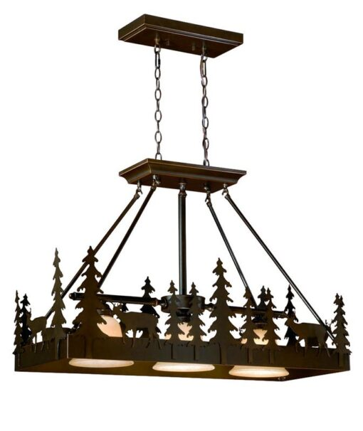 "Bryce 36"" Kitchen Island Pendant Burnished Bronze - Deer"