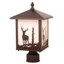 Bryce 8 Outdoor Post Light Burnished Bronze Deer