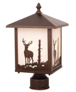 Bryce 8 Outdoor Post Light Burnished Bronze Deer