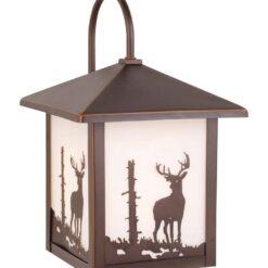 Bryce 8 Outdoor Wall Light Burnished Bronze Deer