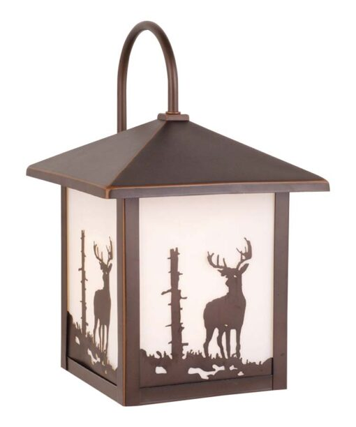 Bryce 8 Outdoor Wall Light Burnished Bronze Deer