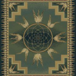 DREAM CATCHER Lodge Cabin Rug - Green