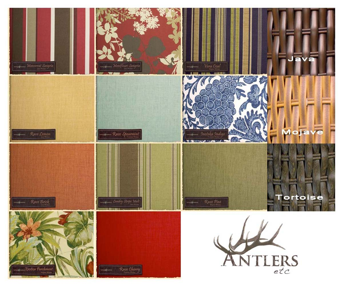 Wicker and Fabric Color Options