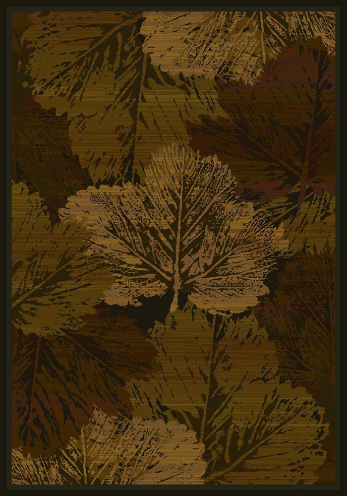 Fall Canvas Cabin Rug - Brown