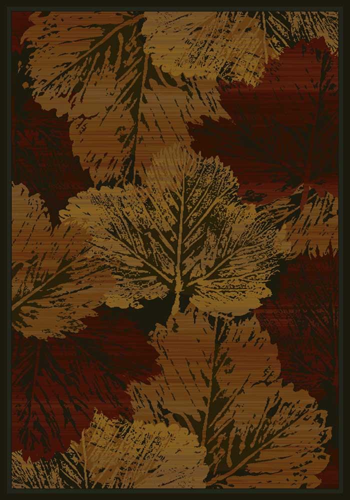 Fall Canvas Cabin Rug - Burgundy