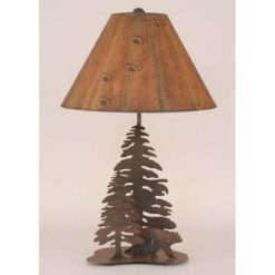 Iron Bear Lamp w/ Trees