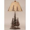 Iron Pine Trees with Elk Lamp