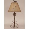 Iron S-Leg Horse Table Lamp