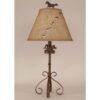 Iron S-Leg Horse Table Lamp