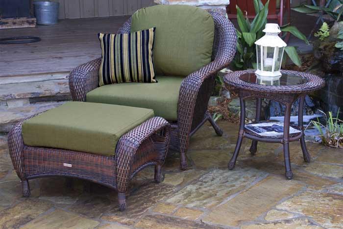 Lexington Club Chair, Ottoman, and End Table