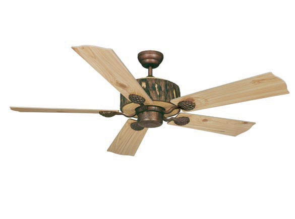 """Log Cabin 52"""" Ceiling Fan Weathered Patina"""