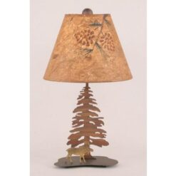 Mini Moose Single Pine Tree Lamp