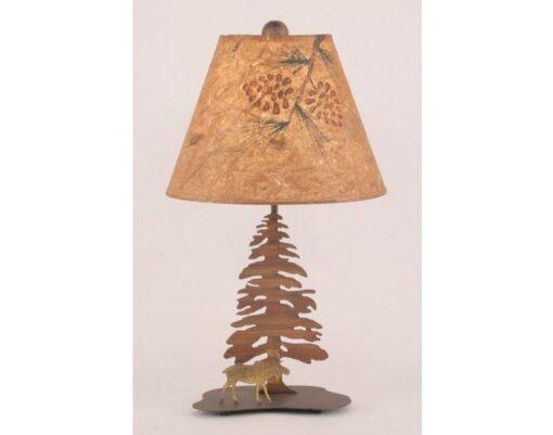 Mini Moose Single Pine Tree Lamp