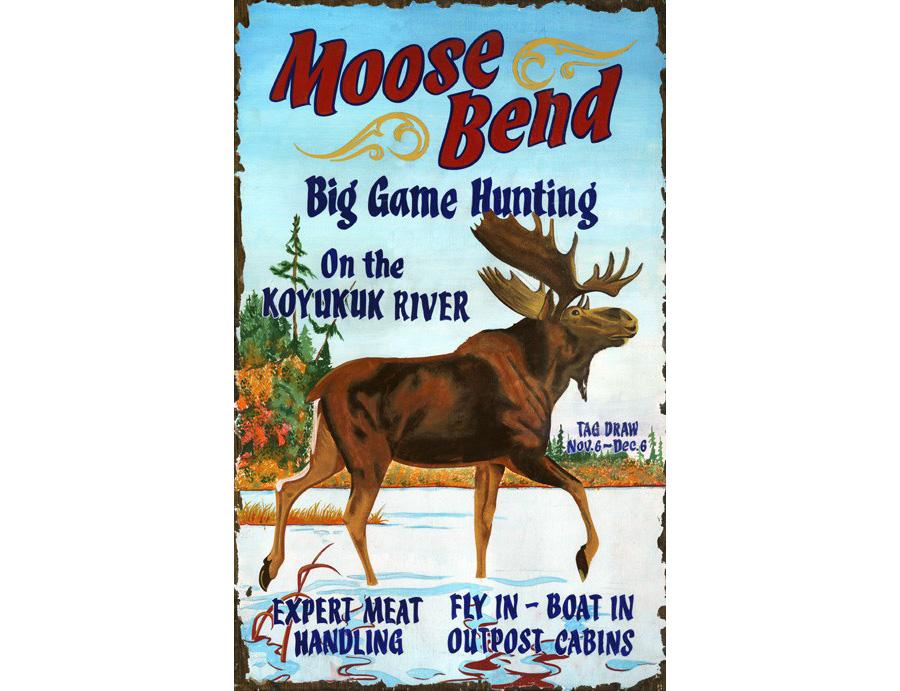 Moose Bend Vintage Sign