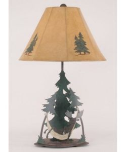 Moose in Hammock Lamp