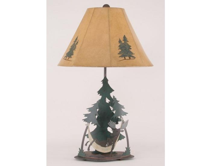 Moose in Hammock Lamp