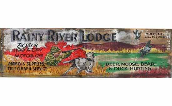 Rainy River Vintage Sign