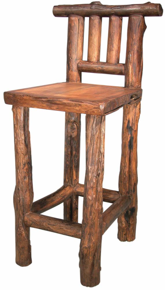 Rustic Bar Stools ~ Rocky mountain bar chair rustic stools