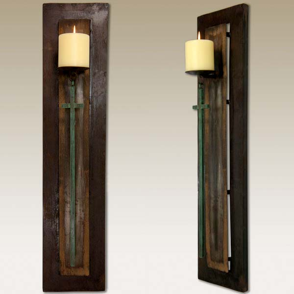 Rustic Metal Candle Holder