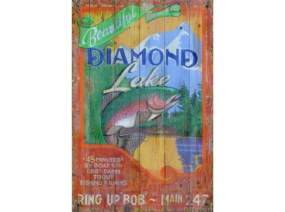 Trout Lake Vintage Sign -