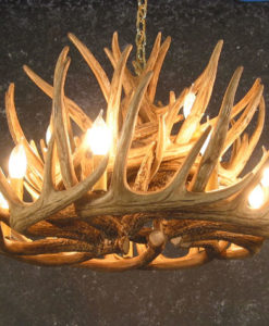 Whitetail 21 Antler Cascade Chandelier (Bottom View)